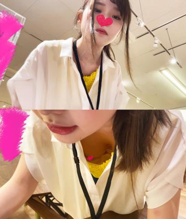 【個撮胸チラ①】《家具屋の激カワ巨乳店員さん》丁寧に説明してくれながら、えっちなおっぱいを見せてくれました。