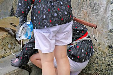 【オリジナル撮影170枚】海に潜って濡れて生パン透け透け JK風 あまちゃん写真集 01