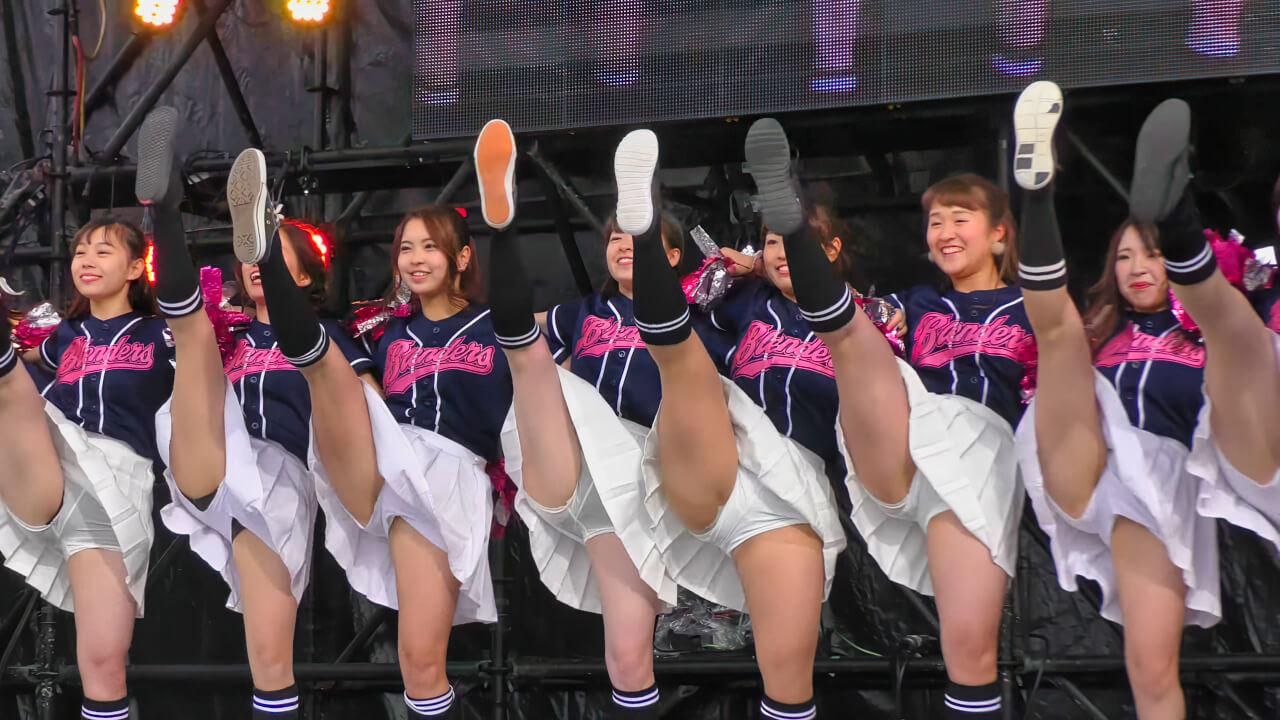 【4K】立命館大学 BLENDERS チアダンス ③ 学園祭 BKC祭