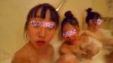 美女3名の風呂胸チラ