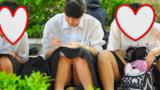 制服姿の可愛いコを発見!!(FHD)大変です!!パンツが見えてますよ2
