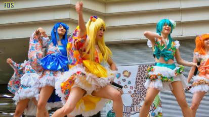 [4K] 愛夢GLTOKYO 「ゆずれない願い」 コスプレ アイドル Japan cosplay idol group