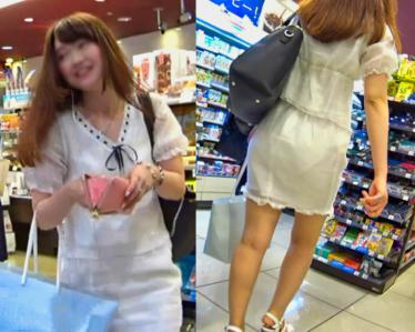 奇跡!完全に白下着が透っけすけな お姉さん極レアです:後編★超おすすめ!【極♀尻 066】