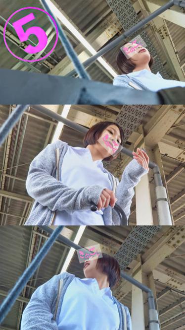 【顔出し】郊外制服女子の生パンVol.2 軟式テニス部系ショートカットをエスカレーター尾行&逆さ撮り【高画質】