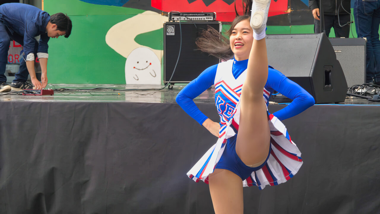 Cheerleading チア ⚾️ 慶應義塾大学応援指導部チアリーディング部 MAJORETTES 2017 チャンスパターンメドレー ⚽️