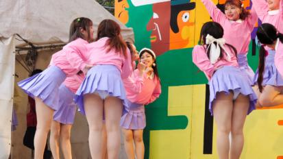 Female college student dance circle②