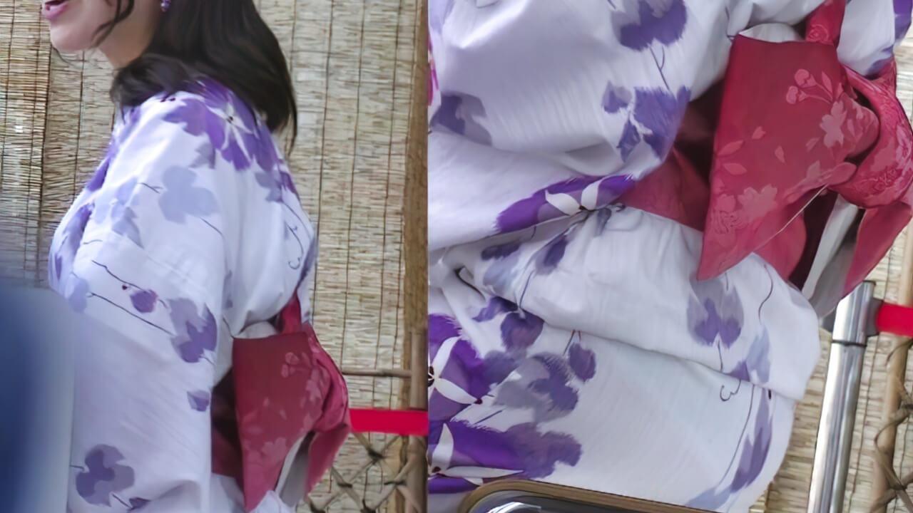 浴衣がスケスケな美少女~動画~
