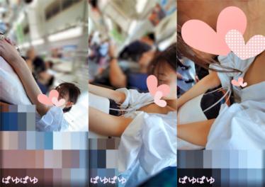 [胸チラ]居眠り女子の産毛付き膨らみかけ乳首[顔有]