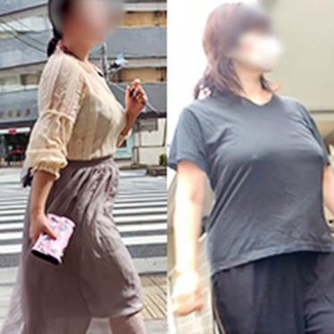 【プレミアムクラス】ノーブラで乳輪の大きさまで?!ゆっさゆさな着衣巨乳様とミックス!