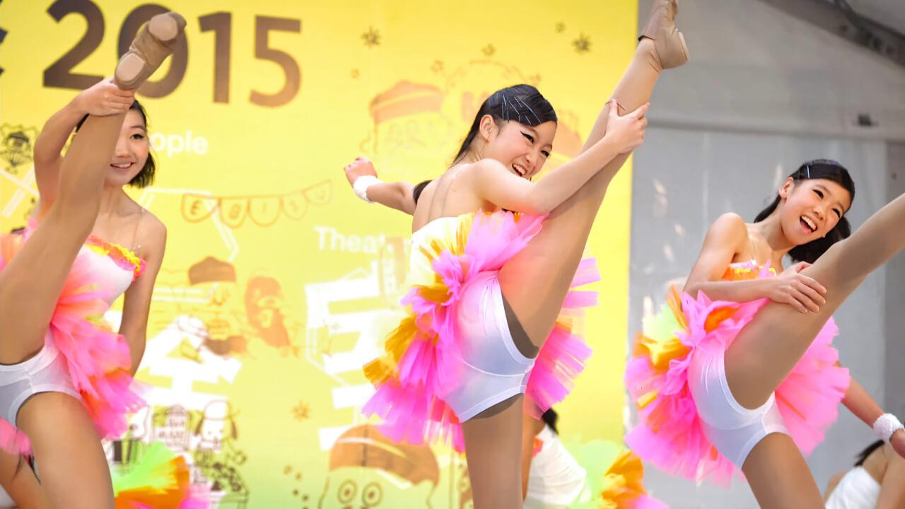 【美少女】 チアダンス 恵比寿文化祭2015 ① [4k]